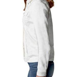 Buffalo David Bitton Jackets & Coats - NEW Buffalo Ladies' White Knit Denim Jacket Small
